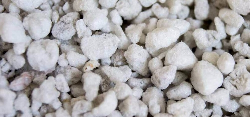 Sustrato mineral de perlita para plantar en hidroponía casera urbana huertos ecológicos retención de nutrientes hidropónicos como Tipo de sustrato para hidroponía